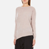 Paisie Women's Round Neck Asymmetric Jumper - Blush: Image 2