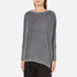 Paisie Women's Ribbed Jumper with Side Splits - Marl Grey: Image 2