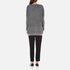 Paisie Women's Ribbed Jumper with Side Splits - Marl Grey: Image 3