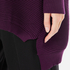 Paisie Women's Ribbed Jumper with Side Splits - Plum: Image 5