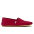 TOMS Men's Core Classics Slip-On Pumps - Red: Image 1