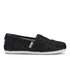 TOMS Kids' Seasonal Classics Slip-On Pumps - Black Crochet Glitter: Image 1