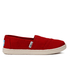 TOMS Kids' Seasonal Classics Slip-On Pumps - Red: Image 1