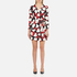 Boutique Moschino Women's Heart Print Wrap Around Dress - Multi: Image 1