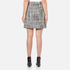 Boutique Moschino Women's Tweed Print Short Pleat Skirt with Buttons - Black: Image 3