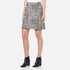 Boutique Moschino Women's Tweed Print Short Pleat Skirt with Buttons - Black: Image 2