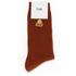 Folk Men's Rib Socks - Rust: Image 3