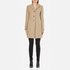 Love Moschino Women's Silver Heart Button Coat - Beige: Image 1
