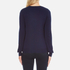 Love Moschino Women's Silver Heart Pendant Jumper - Navy: Image 3