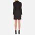 Love Moschino Women's Silver Heart Pendant Zip Jumper Dress - Black: Image 2