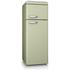 Swan SR11010GN Retro Top Mounted Fridge Freezer - Green: Image 1