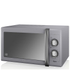 Swan SM22070GRN 25L Retro Manual Microwave - Grey: Image 1