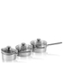 Swan Saucepan Set - Stainless Steel - 16/18/20cm (3 Piece): Image 1