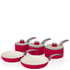 Swan Retro Pan Set - Red (5 Piece): Image 1