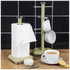 Swan Retro Towel Pole - Green: Image 2