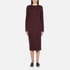 McQ Alexander McQueen Women's Side Slit Sweater Dress - Port: Image 1