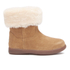 UGG Toddlers' Jorie II Sheepskin Collar Suede Boots - Chestnut: Image 1