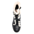 UGG Women's Ingrid Leather Sheepskin Lace Up Heeled Boots - Black: Image 3
