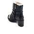 UGG Women's Ingrid Leather Sheepskin Lace Up Heeled Boots - Black: Image 4