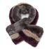 Ted Baker Women's Wyla Triple Stripe Detail Fur Scarf - Mid Purple: Image 1
