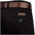 Smith & Jones Men's Ashlar Belted Slim Fit Chinos - Black Twill: Image 3