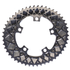 AbsoluteBLACK 110BCD 5 Bolt Spider Mount Aero Oval Chain Ring (Premium): Image 9