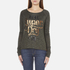 Superdry Women's Slubby Graphic Knitted Jumper - Khaki Twist: Image 1