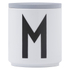 Design Letters Wooden Lid For Porcelain Cup - Grey: Image 1