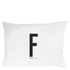 Design Letters Pillowcase - 70x50 cm - F: Image 1