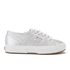 Superga Kids' 2750 Lamej Trainers - Silver: Image 1