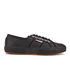 Superga Men's 2750 Fglu Leather Trainers - Full Black: Image 1