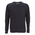 Brave Soul Men's Adler Textured Pocket Jumper - Dark Navy: Image 1