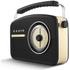 Akai A60010DAB DAB Retro Radio - Black: Image 2