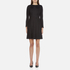 Marc Jacobs Women's Long Sleeve Dress with Crochet Collar - Black: Image 1