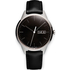 Uniform Wares Men's C40 Polished Steel Italian Nappa Leather Wristwatch - Black: Image 1