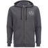 Animal Men's Shiver Zip Through Back Print Hoody - Asphalt Grey: Image 1