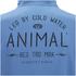 Animal Men's Shiver Zip Through Back Print Hoody - Royale Blue: Image 4