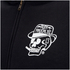 Rum Knuckles Mens Smokin Skull Zip Through Hoody - Zwart: Image 3