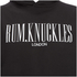 Rum Knuckles Mens London Logo Hoody - Zwart: Image 3