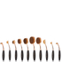 Niko Pro Complete Ova Brush Set - Black/Rose Gold: Image 1