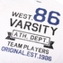 Varsity Team Players Men's West 86 T-Shirt - White: Image 3