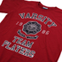 Varsity Team Players Men's Needle & Thread T-Shirt - Red: Image 3