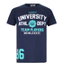 Varsity Team Players Men's University Athletic T-Shirt - Navy: Image 1