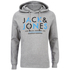 Jack & Jones Men's Core Noah Print Hoody - Light Grey Melange: Image 1
