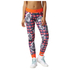 adidas Women's Stella Sport Print Training Tights - Blue/Pink: Image 1