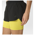 adidas Women's Gym Two-in-One Training Shorts - Black/Yellow: Image 4