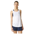 adidas Women's Lightweight Training Tank Top - White: Image 1