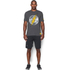 Under Armour Men's Retro Flash Short Sleeve T-Shirt - Carbon Heather: Image 3