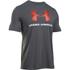 Under Armour Men's Sportstyle Logo T-Shirt - Carbon Heather/White/Dark Orange: Image 1