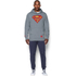 Under Armour Men's Retro Superman Triblend Hoody - Steel/Red: Image 3